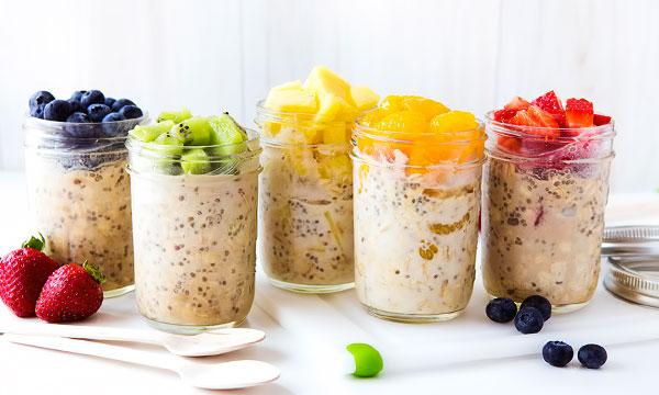 Овсянка в банке здоровый и быстрый завтрак без готовки рецепты