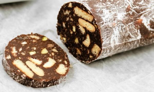 шоколада колбаса с печеньем рецепт
